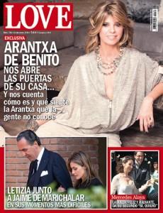Portada de la revista Love con Arancha de Benito