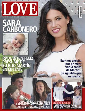 Sara Carbonero en la portada de la revista Love