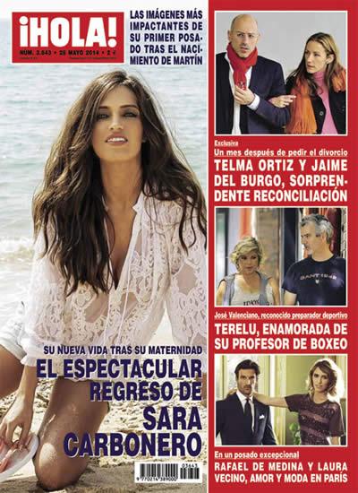 Sara Carbonero en la revista Hola