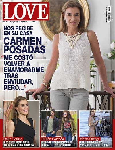 Carmen Posadas, en la portada de la revista Love