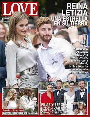 Portada de la revista Love con la reina Letizia