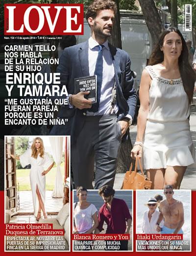 Enrique Solís y Tamara Falcó en la portada de la revista Love