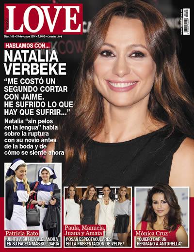 Natalia Verbeke en la portada de la revista Love