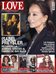 Isabel Preysler en la portada de la revista Love