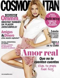 Amaia Salamanca en Cosmopolitan febrero de 2015