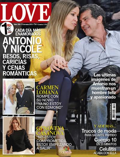 Antonio Banderas en la portada de la revista Love