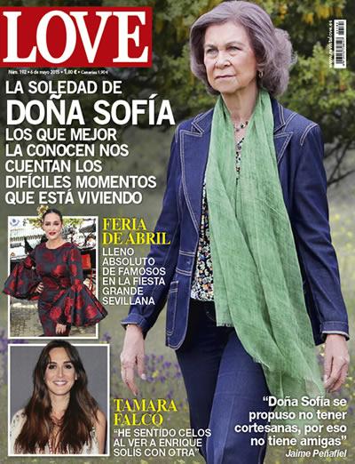 Portada de la revista Love con la Reina Sofía