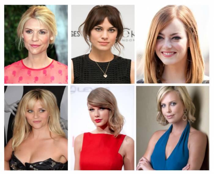 Celebrities - Ejemplos tipos  corte y peinado según rostro
